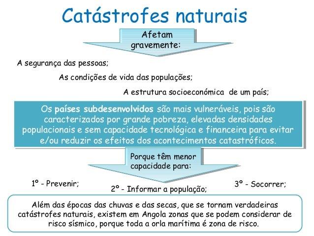 Catástrofes naturaisAfetamgravemente:Afetamgravemente:A segurança das pessoas;As condições de vida das populações;A estrut...