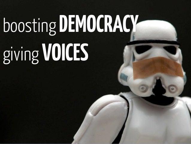 boosting DEMOCRACYgiving VOICES