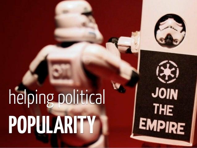 helping politicalPOPULARITY