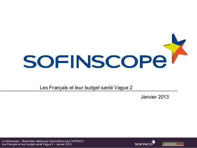 Les Français et leur budget santé Vague 2                                                                        Janvier 2...