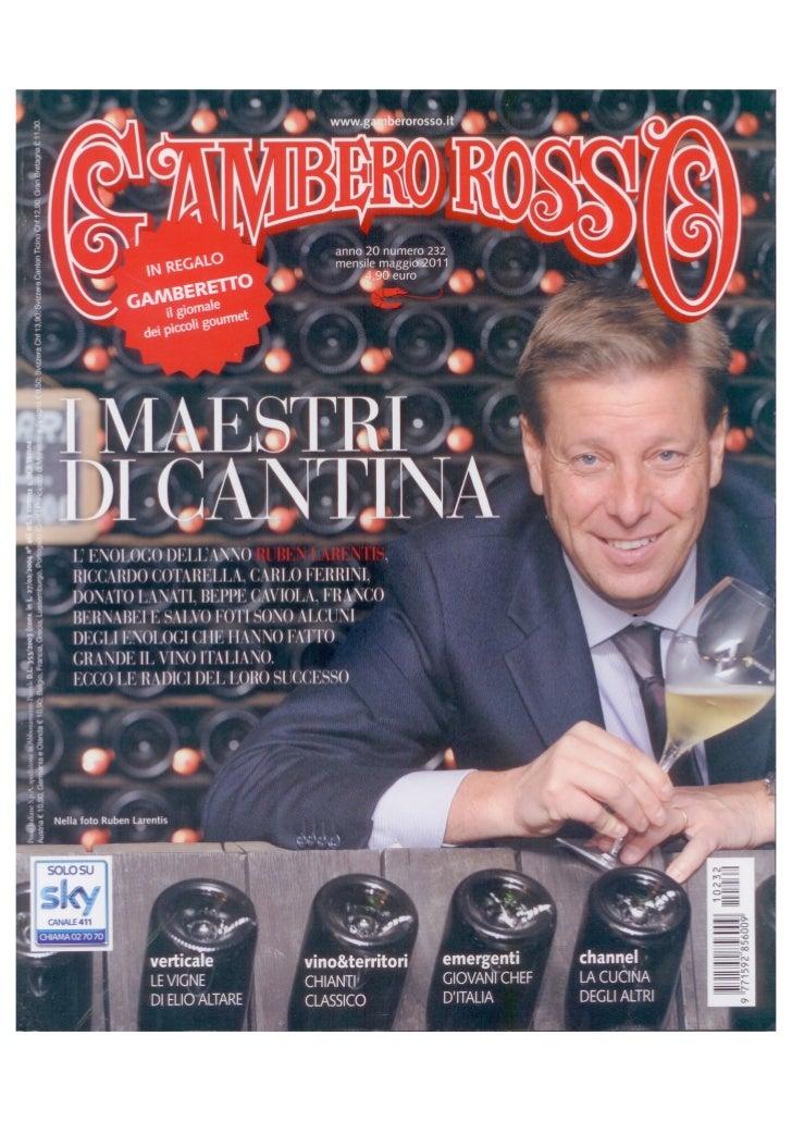 Gambero Rosso - Maggio 2011 - Sofitel Rome Villa Borghese