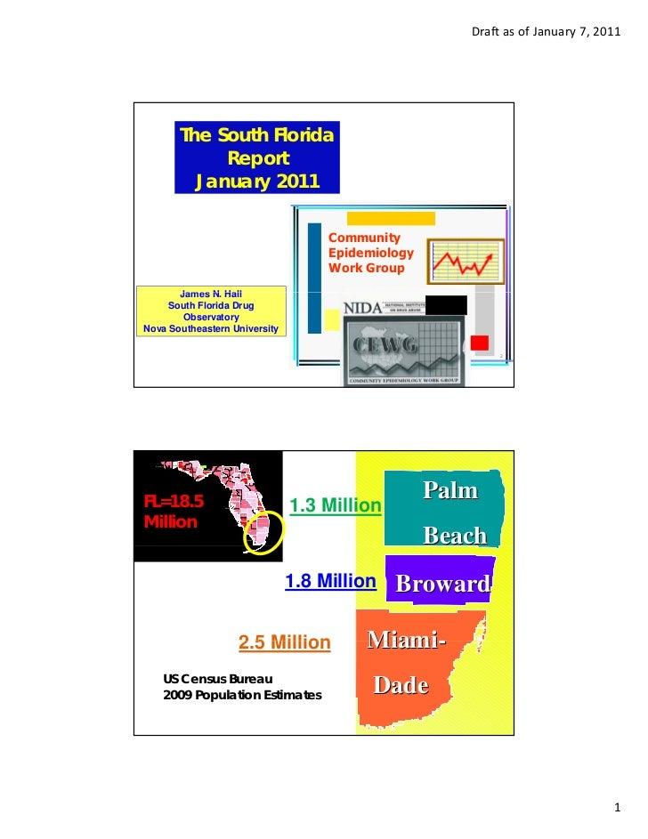DraftasofJanuary7,2011                                The South Florida                                     Report   ...
