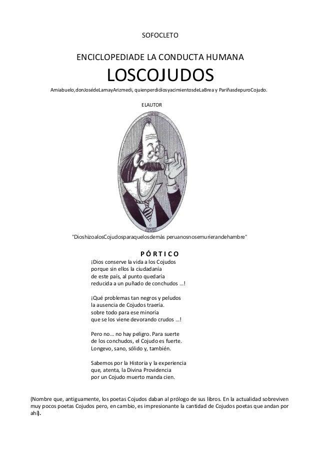 SOFOCLETO                  ENCICLOPEDIADE LA CONDUCTA HUMANA                               LOSCOJUDOS        Amiabuelo,don...