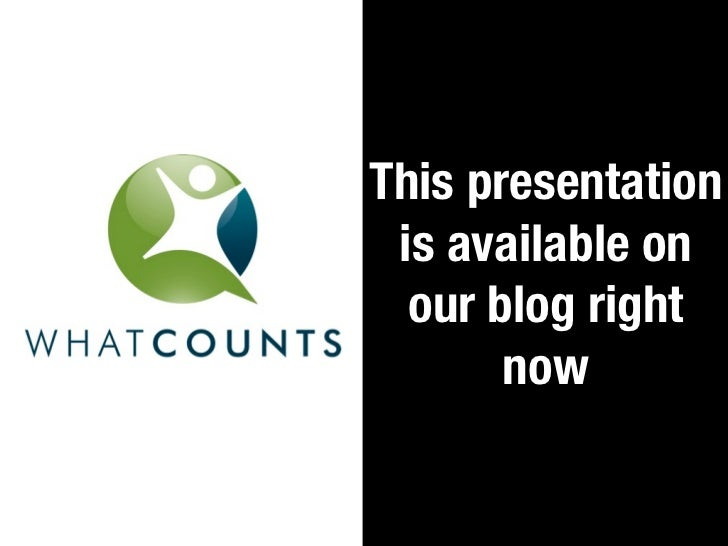 This presentation is available on  our blog right       now