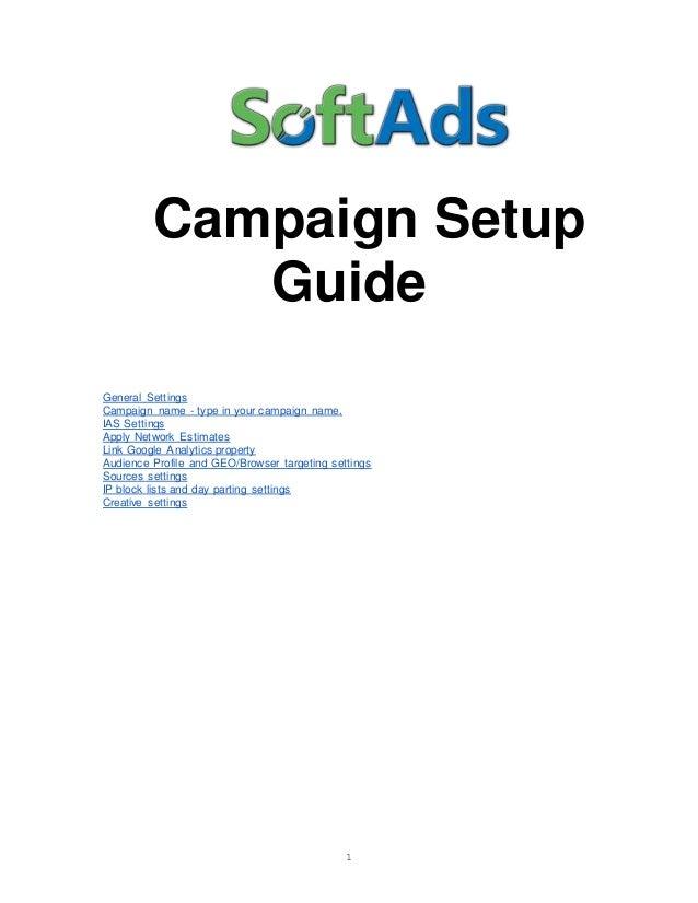 Softads.com campaign setup guide