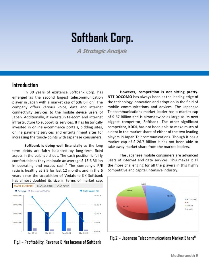 Softbank Corp.Introduction        In 30 years of existence Softbank Corp. has                   However, competition is no...