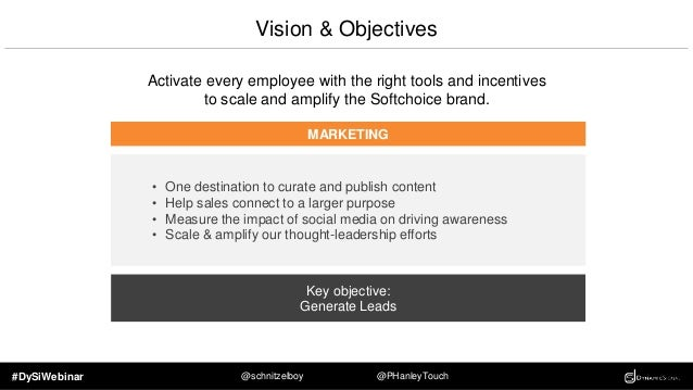 #DySiWebinar @schnitzelboy @PHanleyTouch Vision & Objectives Activate every employee with the right tools and incentives t...