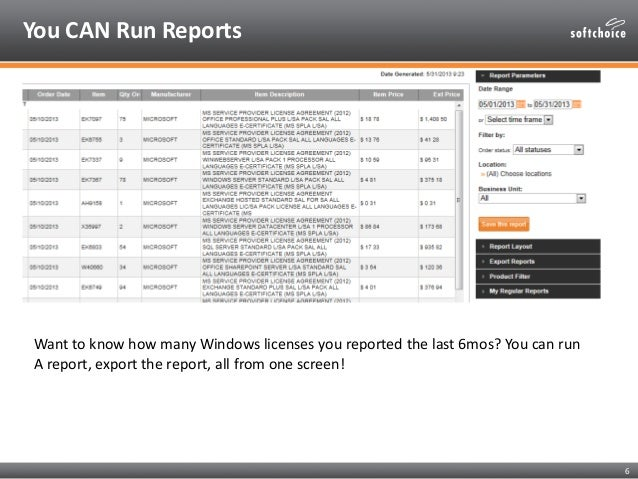 Softchoice SPLA Reporting Tool