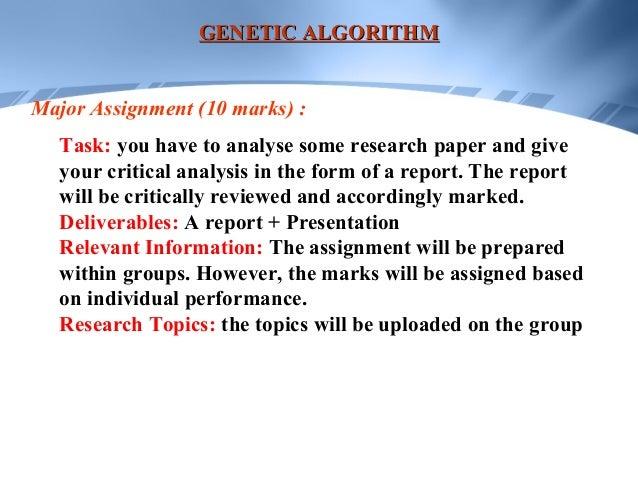 genetic algorithm research paper