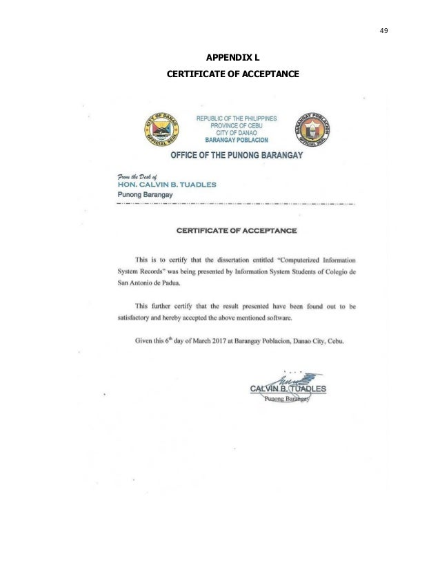 computerize barangay clerance System proposal is serves as a summary of  it should attract your client and convince them that it is more beneficial to change the old system to new computerized .