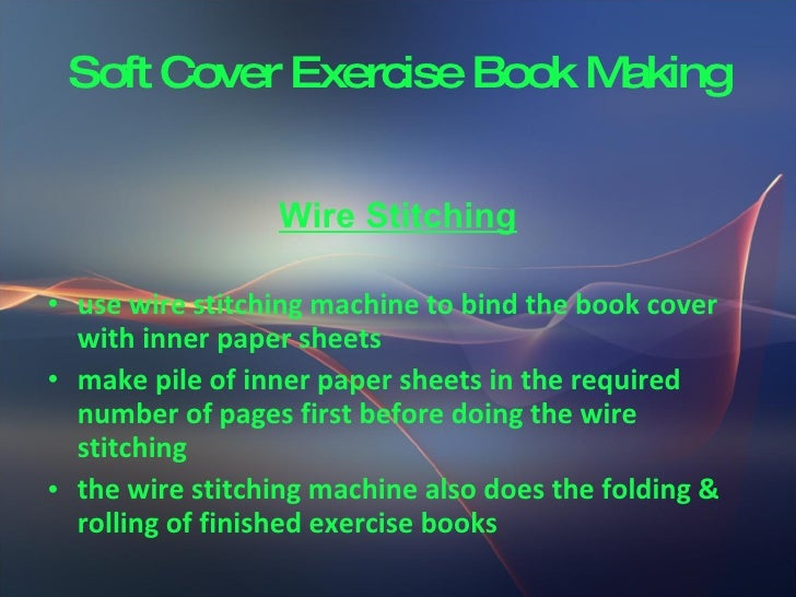 How To Make A Exercise Book Cover : Soft cover exercise book making
