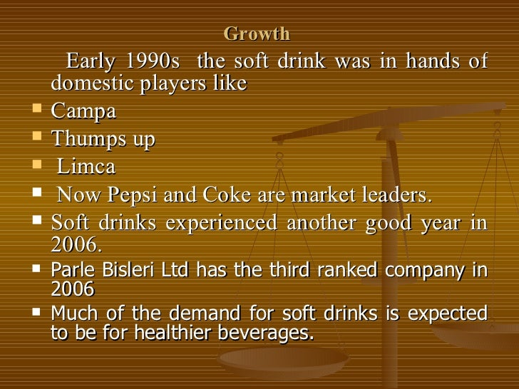 Complementors to the soft drink industry