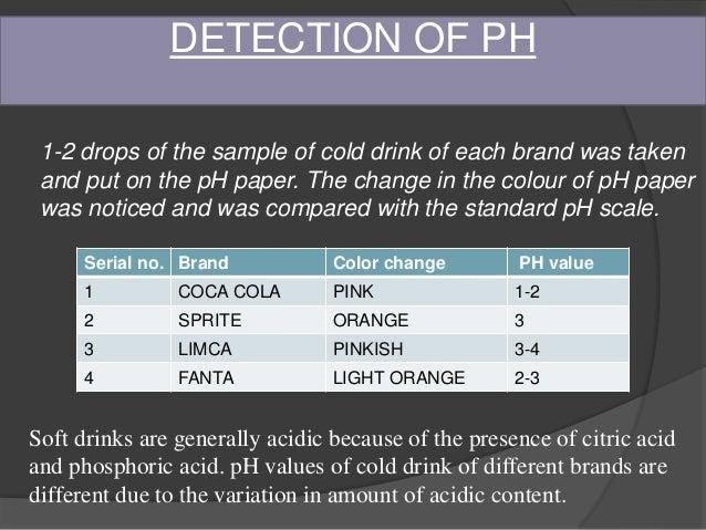 concentration of phosphoric acid in coca cola