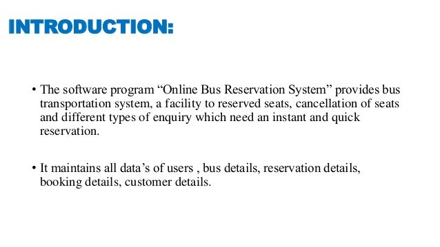 online bus ticket booking system