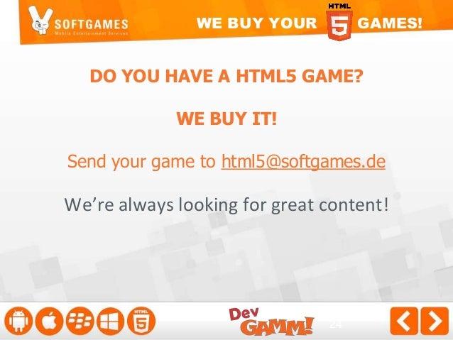 THANKS! Questions?  m.softgames.de html5@softgames.de @softgames LinkedIn.com/in/alexanderkrug
