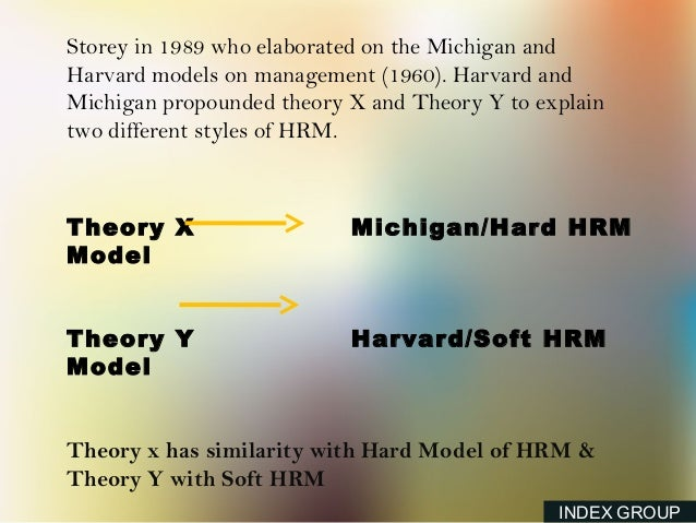 hard and soft models of hrm