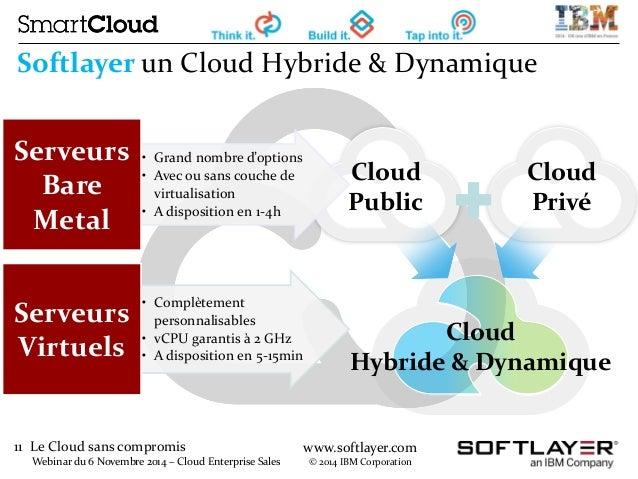 11 Le Cloud sans compromis  Webinar du 6 Novembre 2014 – Cloud Enterprise Sales  www.softlayer.com  © 2014 IBM Corporation...