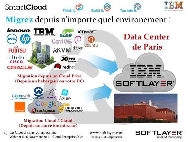 15 Le Cloud sans compromis  Webinar du 6 Novembre 2014 – Cloud Enterprise Sales  www.softlayer.com  © 2014 IBM Corporation...