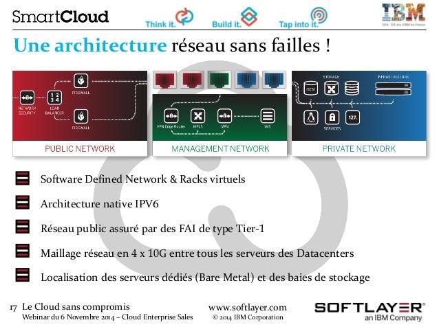 17 Le Cloud sans compromis  Webinar du 6 Novembre 2014 – Cloud Enterprise Sales  www.softlayer.com  © 2014 IBM Corporation...