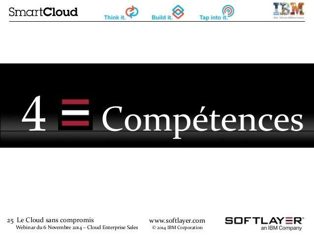 25 Le Cloud sans compromis  Webinar du 6 Novembre 2014 – Cloud Enterprise Sales  www.softlayer.com  © 2014 IBM Corporation...
