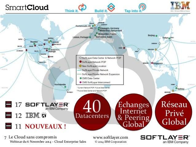 7 Le Cloud sans compromis  Webinar du 6 Novembre 2014 – Cloud Enterprise Sales  www.softlayer.com  © 2014 IBM Corporation ...