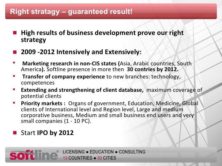 Right stratagy  –  guaranteed result ! <ul><li>High results of business development prove our right strategy </li></ul><ul...