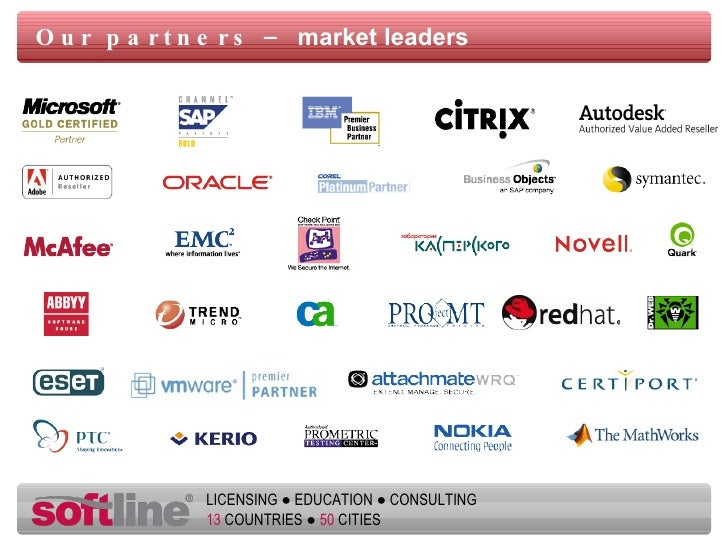 Our partners –  market leaders
