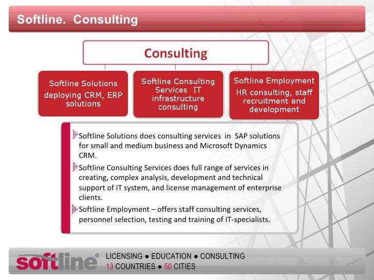 Softline.  Consulting Softline Solutions does consulting services  in  SAP solutions for small and medium business and   M...