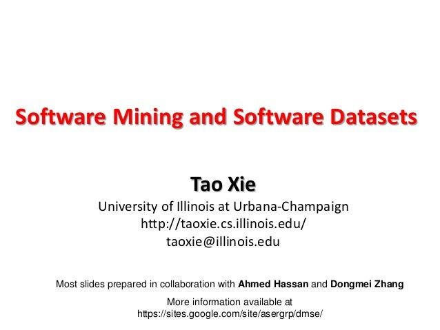 Most slides prepared in collaboration with Ahmed Hassan and Dongmei Zhang More information available at https://sites.goog...