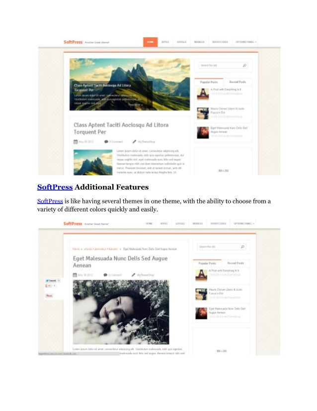 Soft press   clean and refined wordpress theme