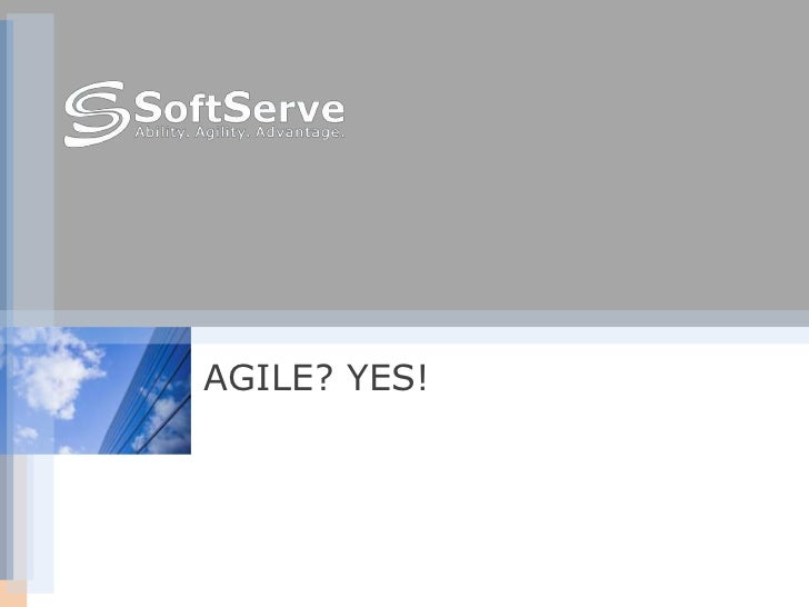 AGILE? YES!<br />