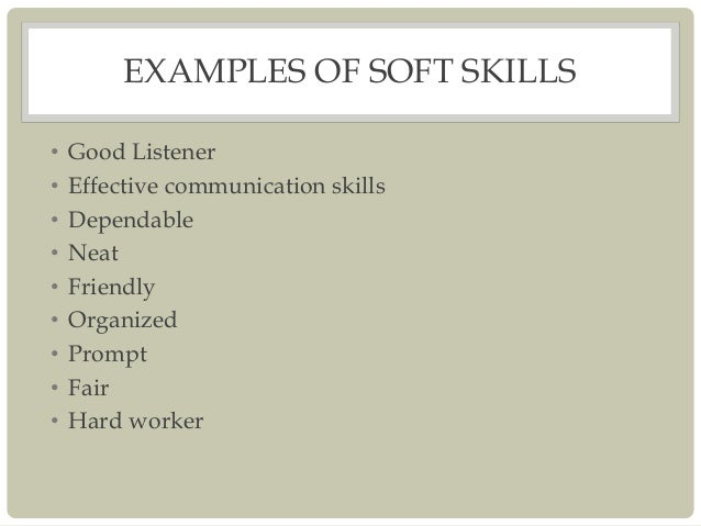 Additional Skills On A Resume Examples. Hard skills vs Soft skills ...