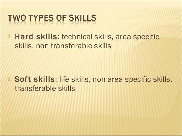 foundation of career 3 hard skills technical skills area specific skills