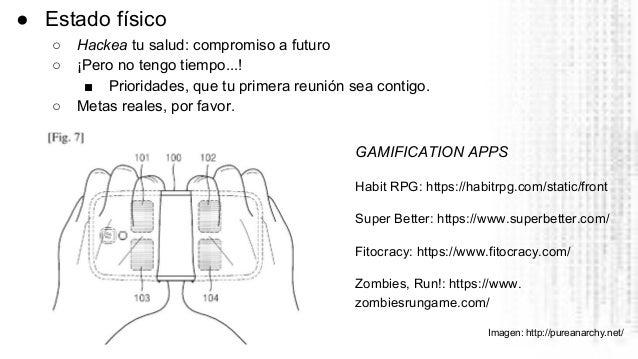 GAMIFICATION APPS Habit RPG: https://habitrpg.com/static/front Super Better: https://www.superbetter.com/ Fitocracy: https...