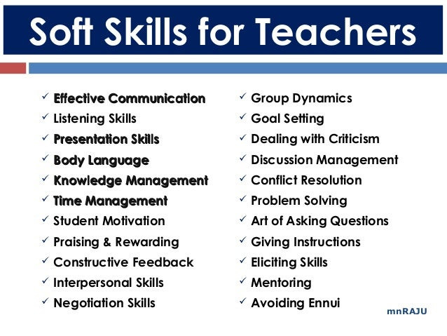 Soft Skills for Maths Teachers