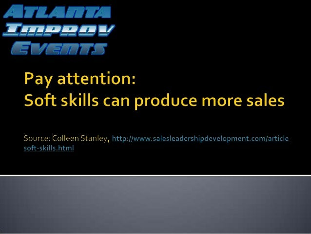  Research supports the POWER of soft skills training.  Soft skills are the new weapon for companies competing in a globa...