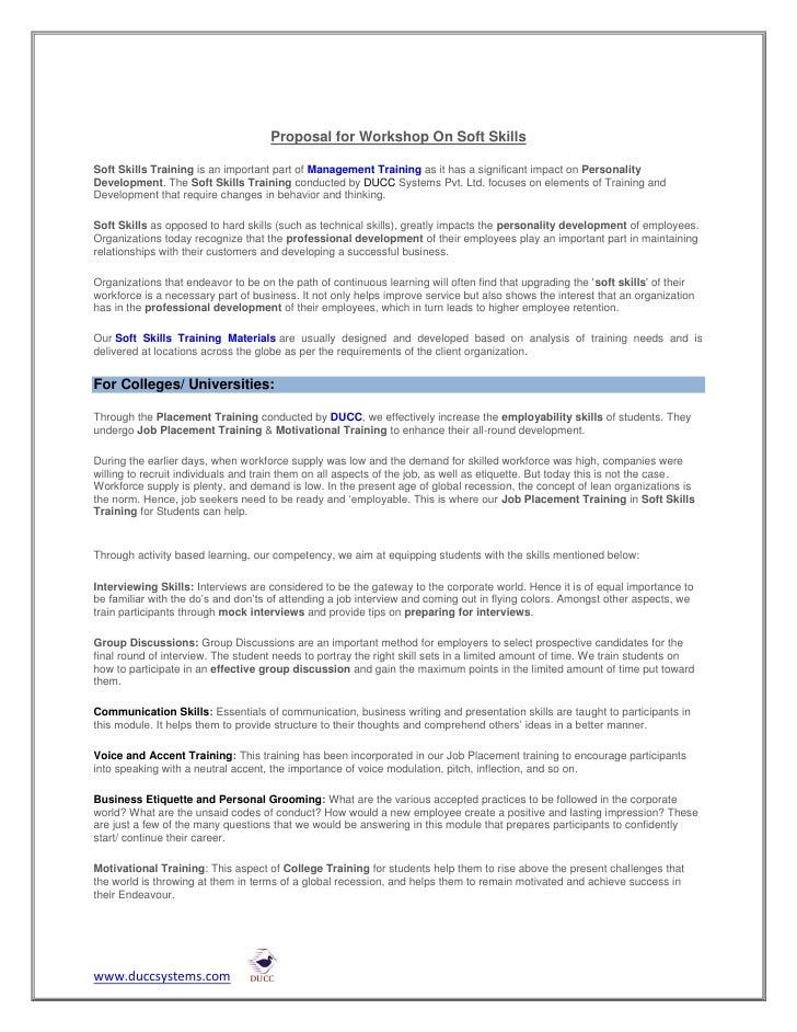 soft skills pattern and syllabus ducc systems