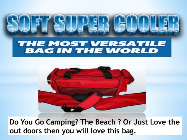 Do You Go Camping? The Beach ? Or Just Love the out doors then you will love this bag.