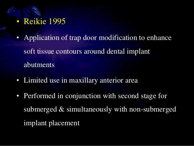 CT pedicle is elevated CT pedicle is rolled & secured in buccal pouch Performed simultaneous with nonsubmerged implant pla...