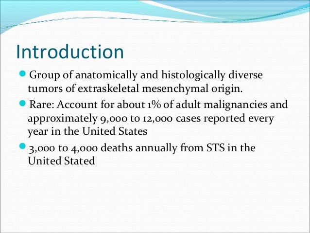 Soft tissue sarcomas, treatment (surgical, radiation, chemotherapy) Slide 2