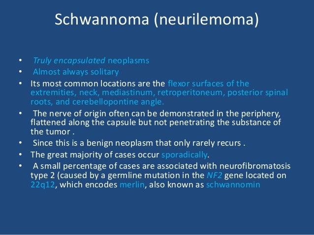 • immunoreactivity for S-100 protein, calretinin (in contrast to neurofibromas), calcineurin, basal lamina components ,vim...