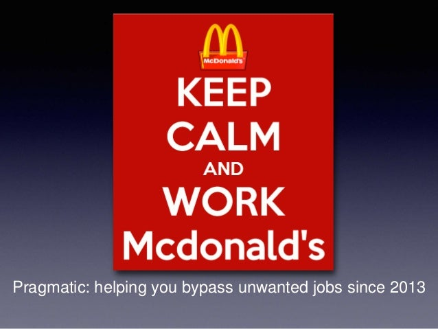Pragmatic: helping you bypass unwanted jobs since 2013
