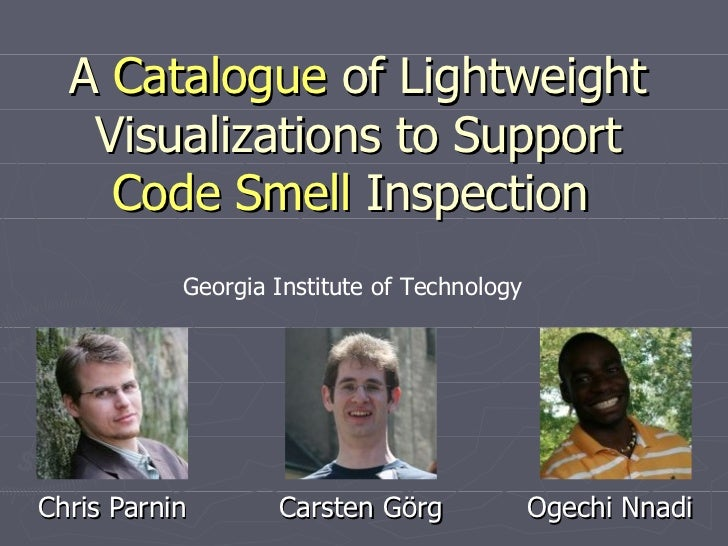 A Catalogue of Code Smell Visualizations