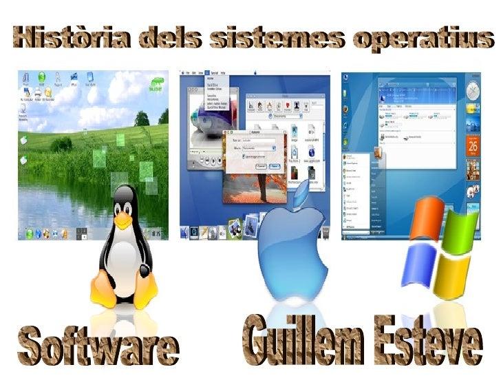 Història dels sistemes operatius Guillem Esteve Software