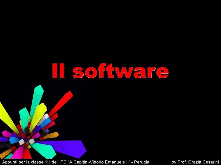 """Il software Appunti per la classe 1H dell'ITC """"A.Capitini-Vittorio Emanuele II"""" - Perugia  by Prof. Grazia Cesarini"""