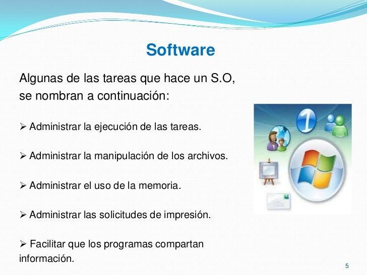 El software se clasifica en Sistemas Operativos y Software de aplicación</li></ul>2<br />