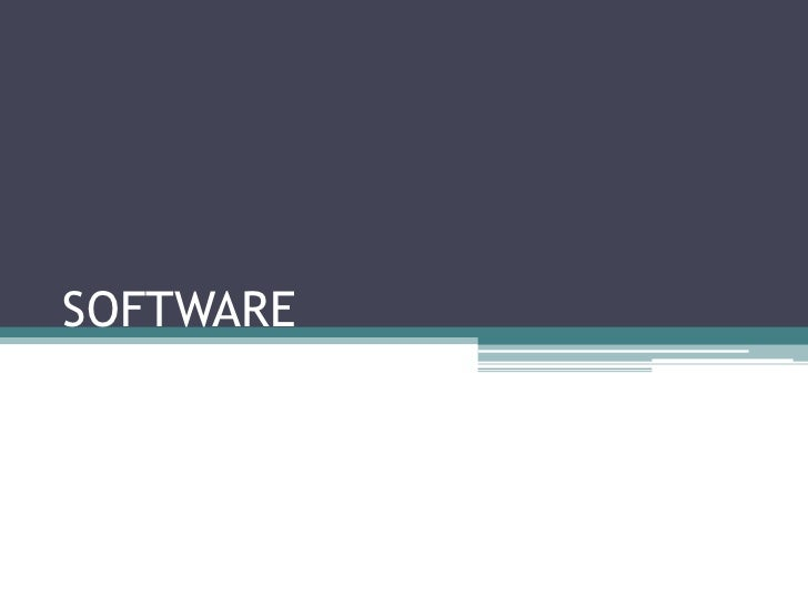SOFTWARE          <br />