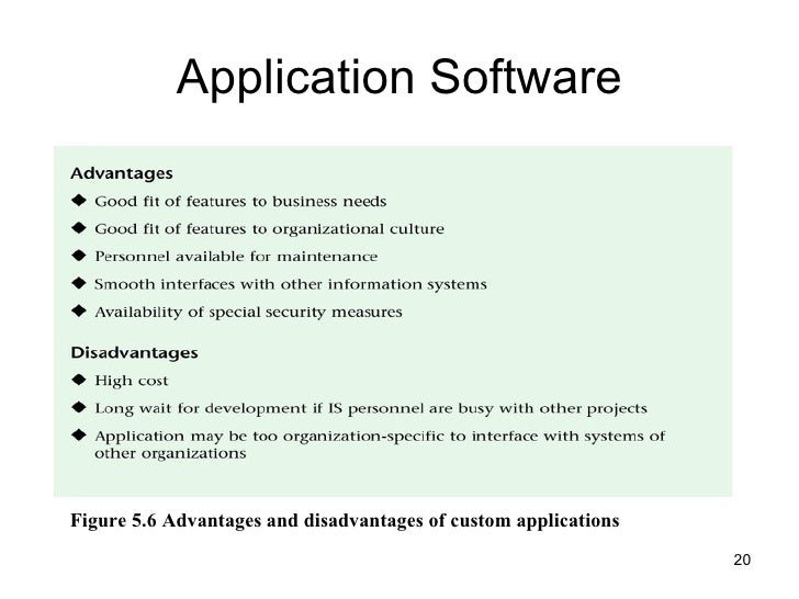 Advantages and disadvantages of the easiness of software