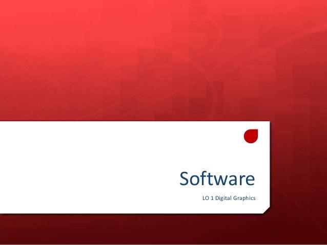 Software LO 1 Digital Graphics
