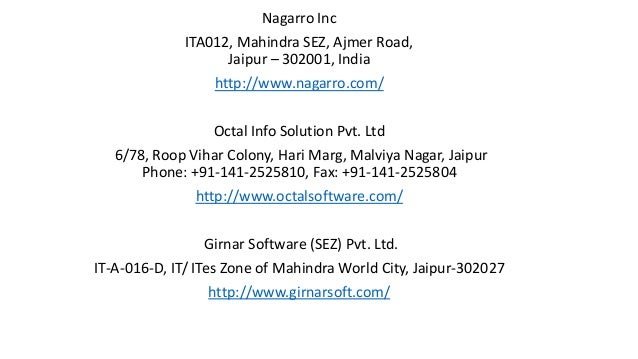 Software Development and IT Companies in Jaipur